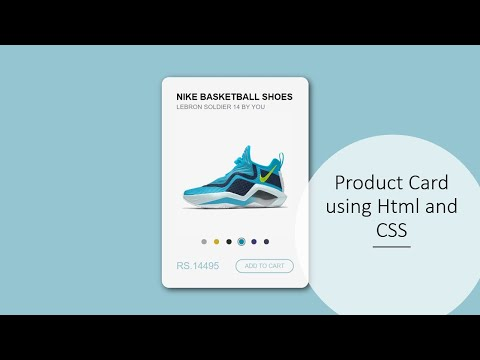 Product Card Using HTML CSS & JQuery