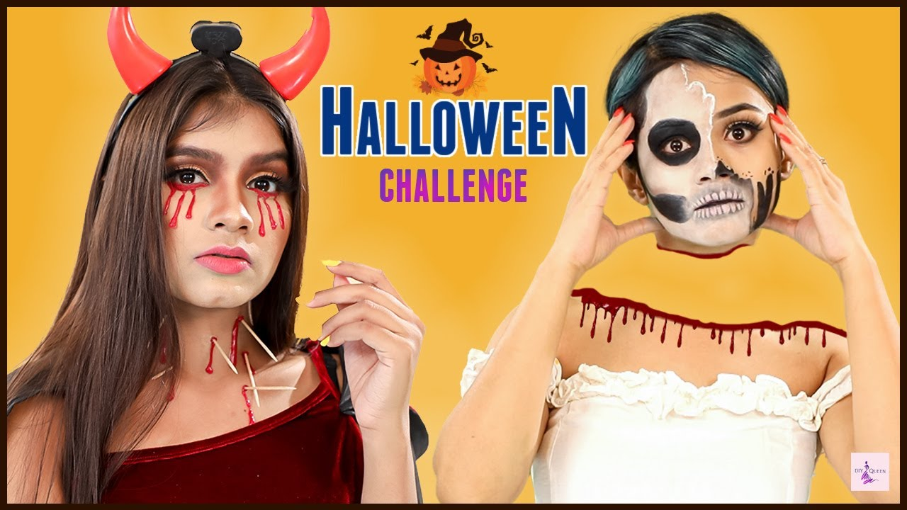 Challenge QUEEN - Halloween Makeup | Step By Step Tutorial | Episode 5 | DIYQueen