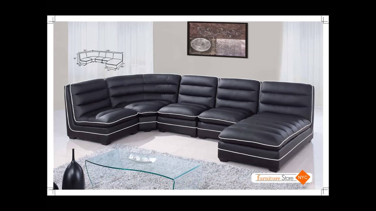 Modern Sectionals, Leather Sectional Sets By New York City Furniture    YouTube