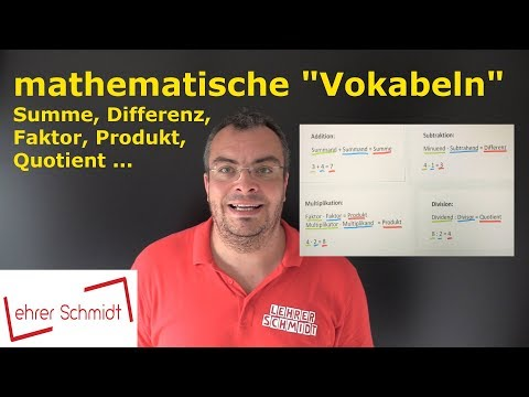 Summe, Differenz, Produkt und Quotient   mathematische Grundbegriffe