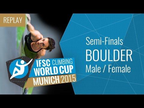 IFSC Climbing World Cup Munich 2015 - Bouldering - Semi-Finals - Male/Female