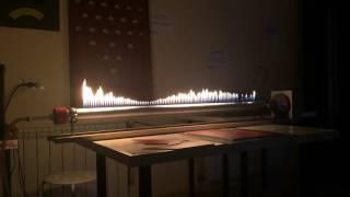 ЭкспериментУм Труба Рубенса СТОЯЧИЕ ВОЛНЫ (генератор частот)