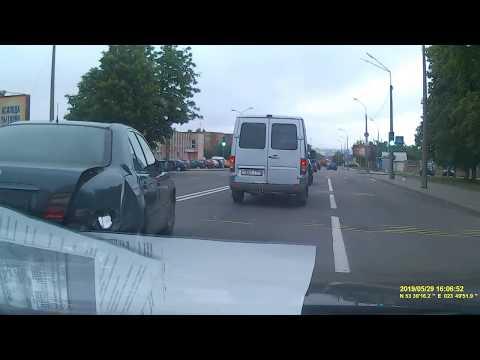 Момент аварии в Гродно