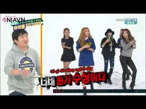 4NIAVNVietsub 150211 Weekly Idol ep 185   4Minute  Crazy    Part 1