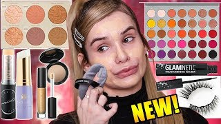 FULL FACE Testing HOT NEW MAKEUP! Worth the HYPE?!