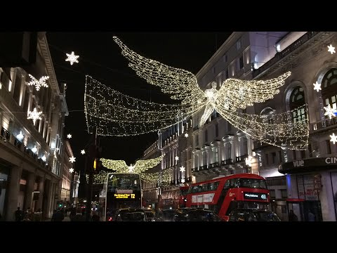 London Regent Street Christmas Lights 2017 Gone Wrong - YouTube