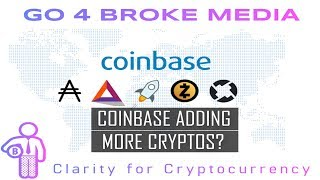 Coinbase adds new coins | G4B Daily News