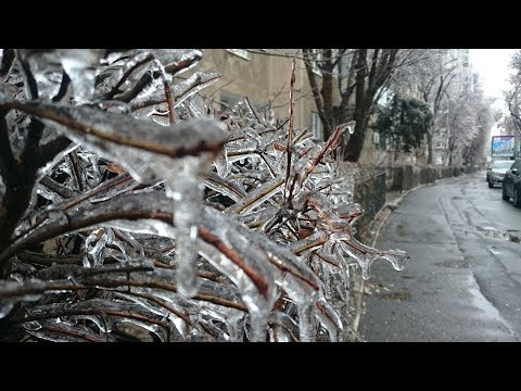 Ploaie înghețată în București