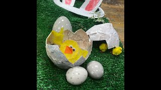 How to make a paper mache Easter egg with chick
