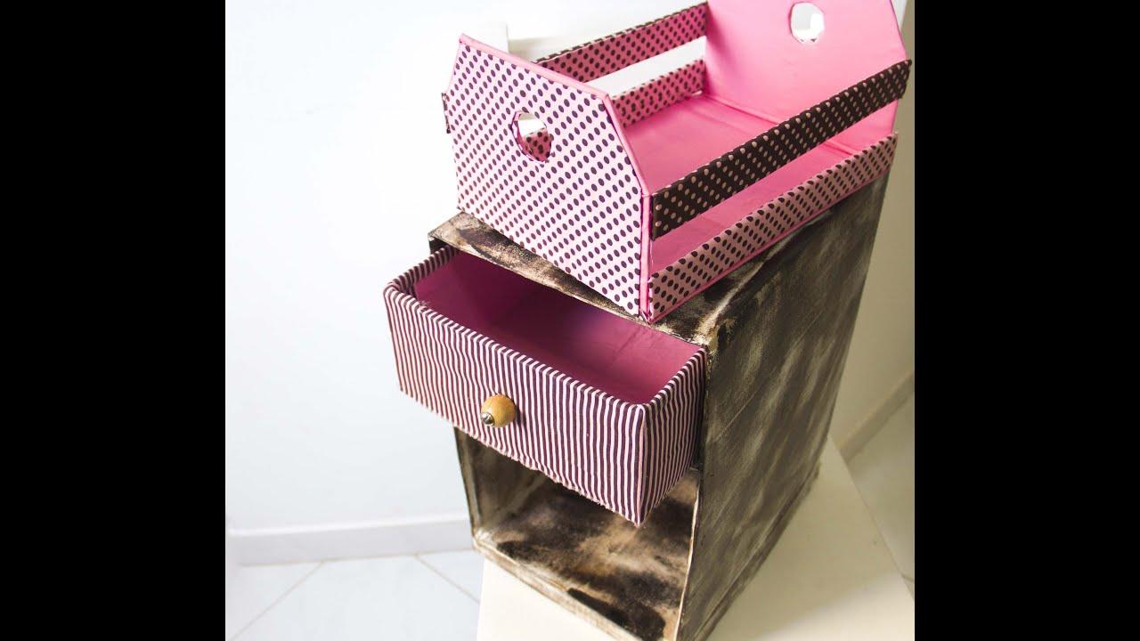 Adesivo De Gato ~ DIY Mini criado de caixa de papel u00e3o ufe0f Artesanato #29 YouTube