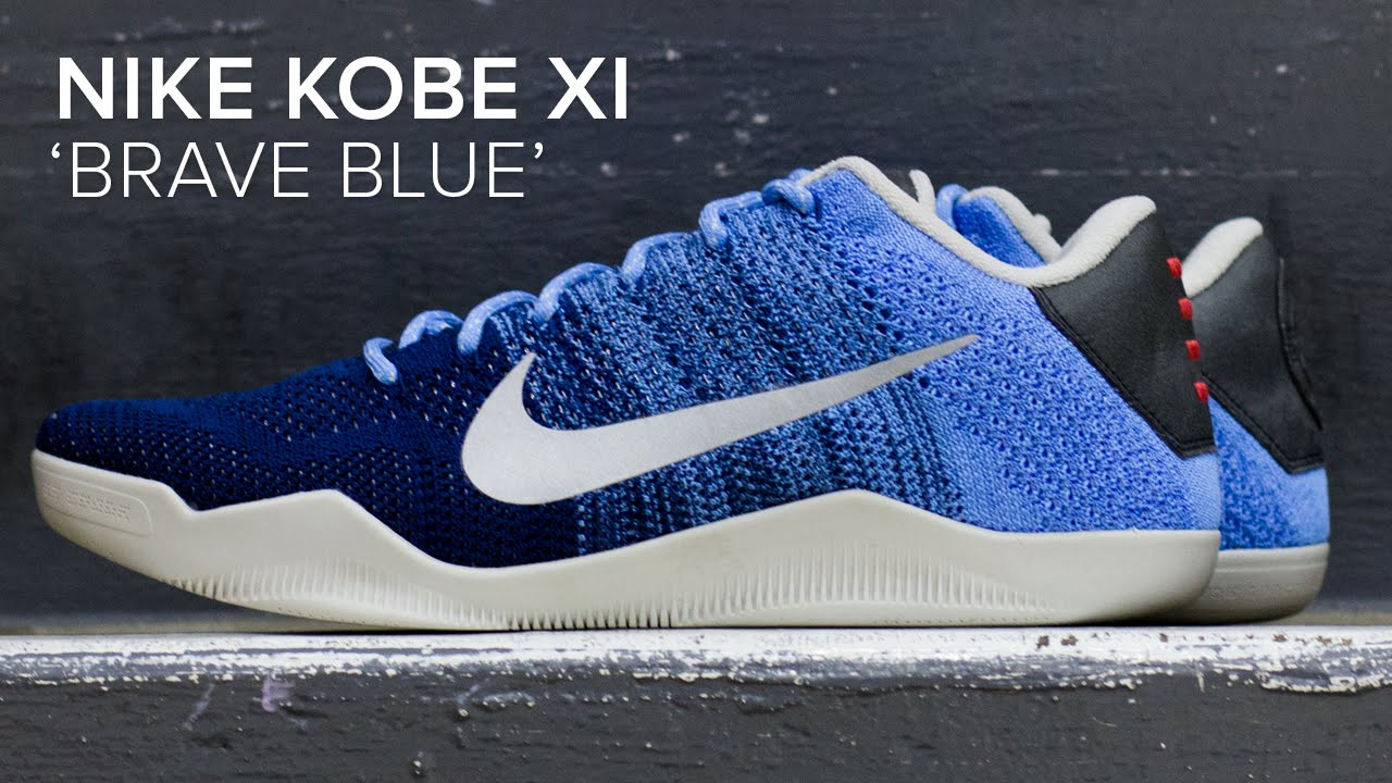 purchase cheap 456bb 89a11 Nike Kobe XI  Brave Blue  Quick On Feet Look - YouTube