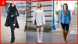 How to Wear Knee High Boot Outfits