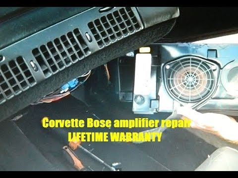 How to Chevy Corvette Bose Front Speaker speakers Removal C4 amp amplifier 1990 - 1996 repair fix