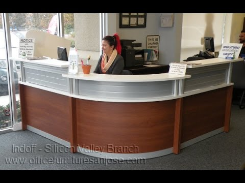 Modern Reception Desk Rounded Front From Indoff Featured On Officefurnituresanjose Com You