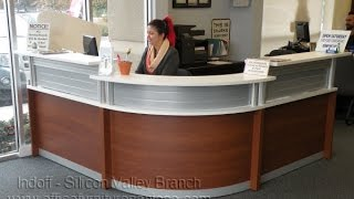 Modern Reception Desk - Rounded Front - From Indoff, Featured On Www.officefurnituresanjose.com