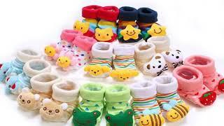1 Pair Newborn Baby Socks Anti Slip Cotton Shoes Animal