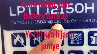 Know your battery backup   what is C value on battery
