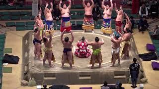 十両土俵入り/2018.1.24/day11 #sumo thumbnail