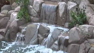 Japanese koi pond & waterfall, totally hand carved