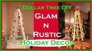 Dollar Tree DIY - Christmas Tree Home Decor - Glam and Farmhouse Decor