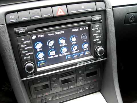 audi a4 flyaudio all in one gps 7531 navi presentation 1 youtube. Black Bedroom Furniture Sets. Home Design Ideas