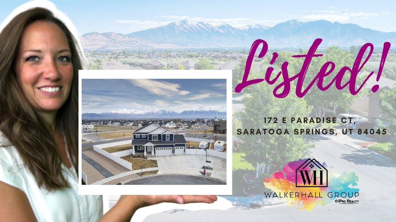 Home For Sale in Saratoga Springs! 172 E Paradise Ct Saratoga Springs, UT 84045