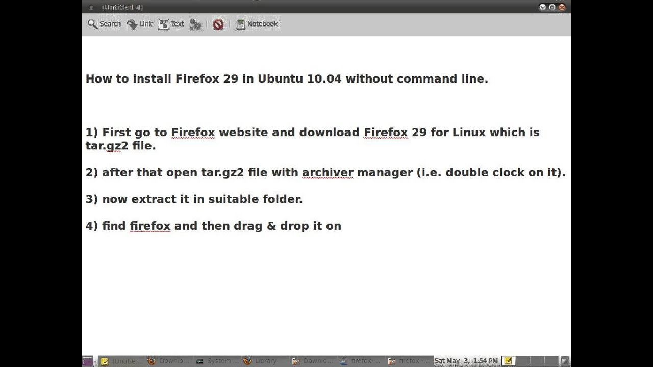 How to install Firefox 29 in Ubuntu 10 04 without command line