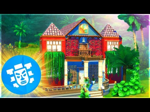 🌱 BEAUTIFUL, JUNGLE VILLA BUILD 🐅 | The Sims 4 Jungle Adventure