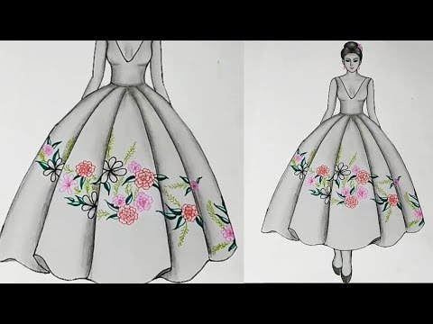 How To Draw Dresses For Beginners Simple Drawings For Beginners Easy Drawing Ideas Step By Step Youtube