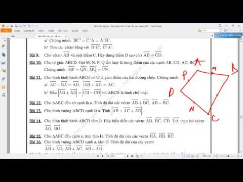 [TOÁN 10 HH] I.A ĐẠI CƯƠNG VECTOR 10 Bài 10 Chứng minh tứ giác trung điểm vector