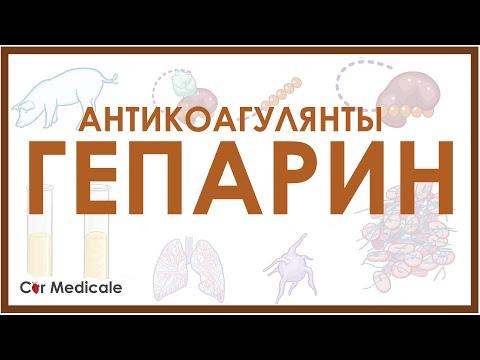Антикоагулянты: гепарин - механизм действия, виды, побочные эффекты