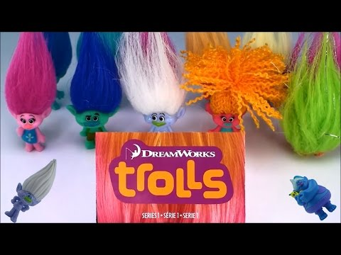 Dreamworks Trolls Toys Series 1 Blind Bags Help With Names Fun Toy Playing For Kids