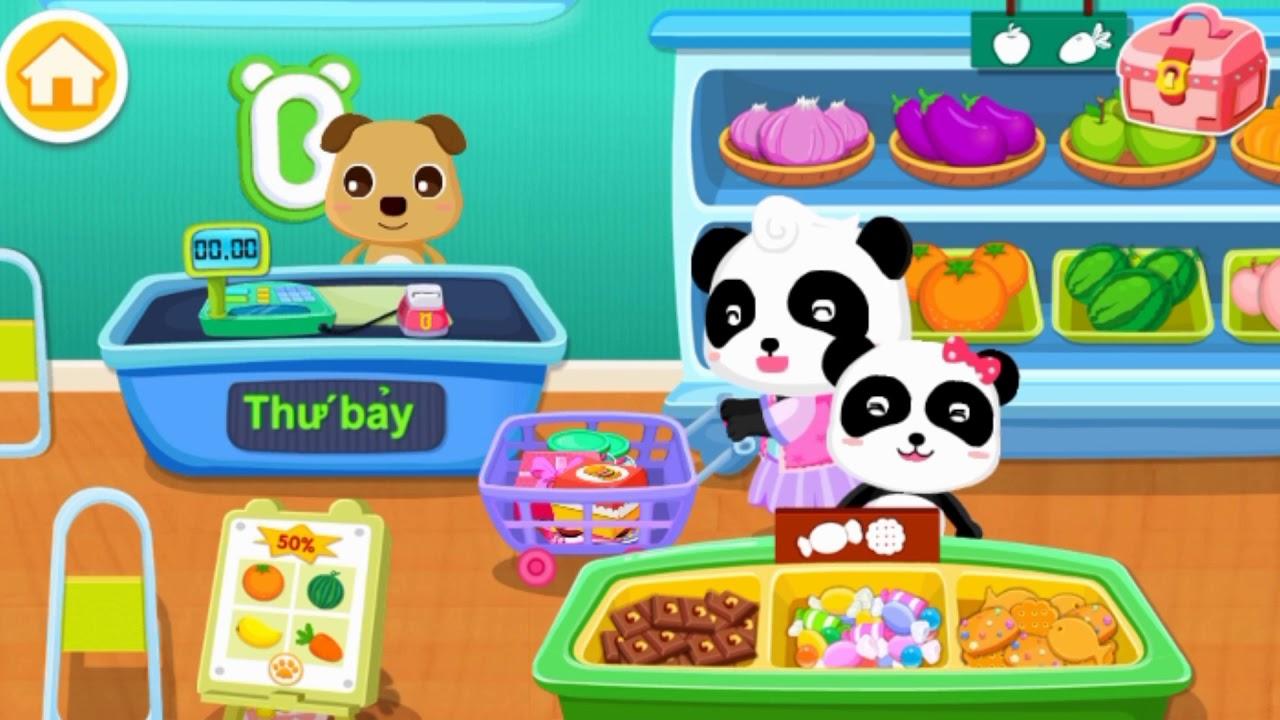 gấu trúc kiki và miumiu đi mua đồ ở siêu thị big