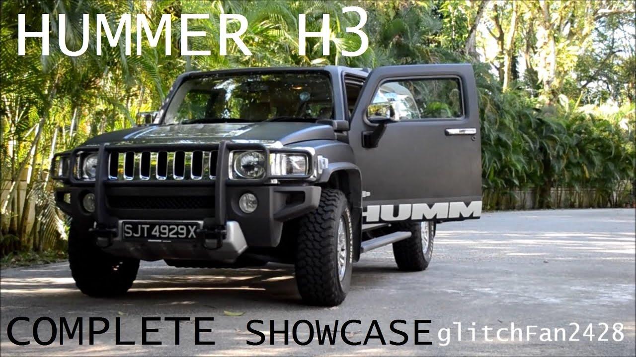 MATTE BLACK Hummer H3 plete Showcase