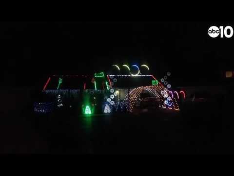 Christmas tree light show in Sacramento