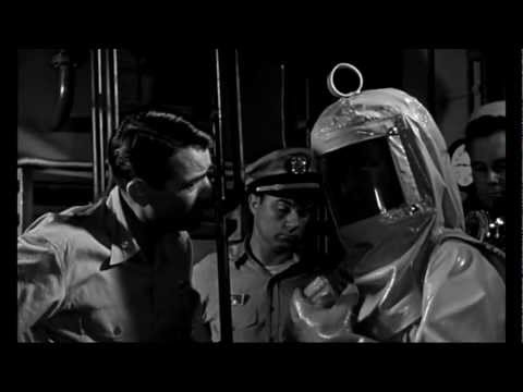 ON THE BEACH, 1959 movie with funny scenes of butt slapping and grabbing...