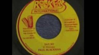 "Paul Blackman ~ ""Say So"" and ""Dub So (version)"""