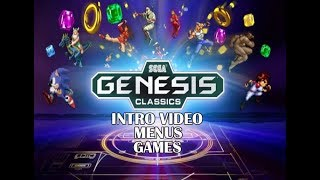 Sega Genesis Classics PS4 Intro, Menus and Game Selection