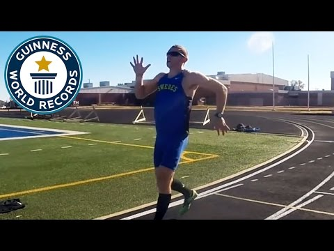 Fastest run backwards one mile Guinness World Records