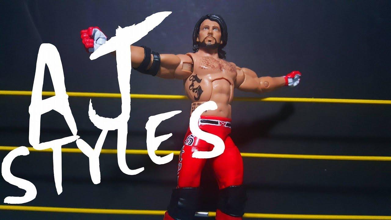 Aj styles custom wwe elite action figure review made for Custom elite com