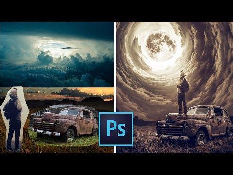 The Moon Portal Photoshop Manipulation Tutorial|Composite
