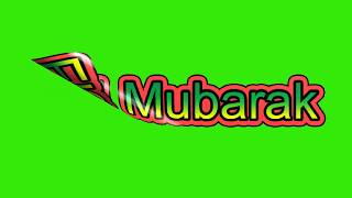 "Eid MubarakText Animation Green Screen""Chroma Stock footage""Eid Mubarak In Advance 2018""no 28"