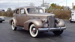 1938 Cadillac Series 65 Sedan 4 Door in Champaign & Engine Sound on My Car Story with Lou Costabile