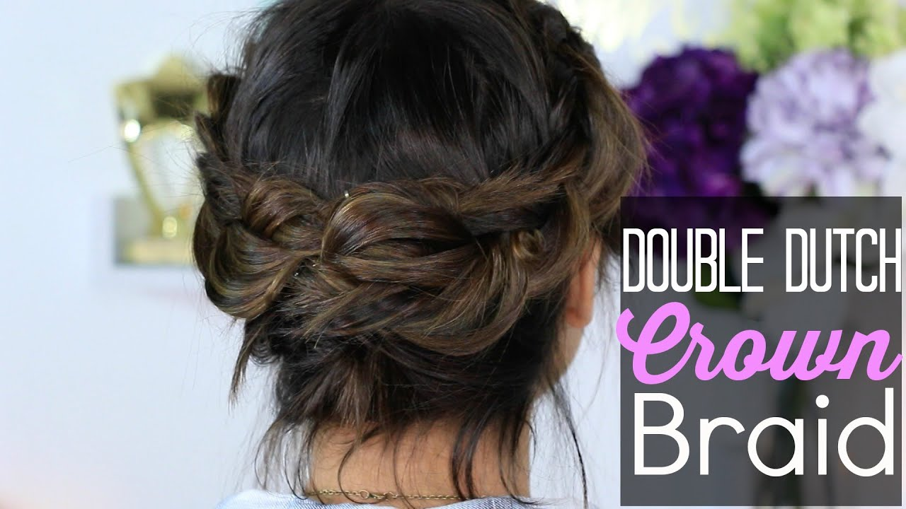 double crown hair styles how to easy crown braid or 5367 | maxresdefault