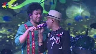 Papon & Zubeen Sing Together | Shyamkanu Mahanta | North East Festival 2018