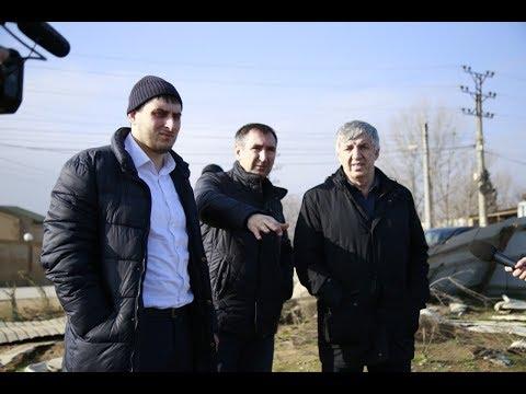 Хизри Абакаров осмотрел площадку, где предполагается строительство Дворца спорта