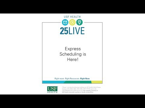 USF Health 25Live Express Scheduling thumbnail