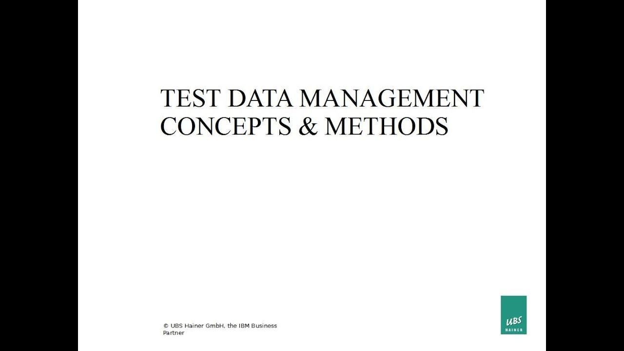 Test Data Management - Concepts & Methods - YouTube