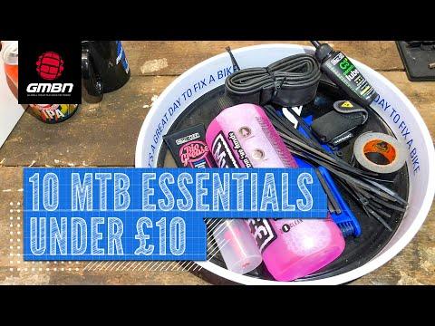 10 Mountain Bike Essentials For Under $10/£10/€10