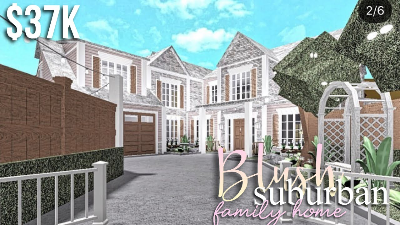 Blush Suburban Family Home Exterior Only Roblox Bloxburg Gamingwithvyt Youtube